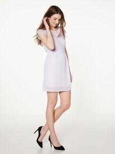KURZÄRMELIG SHORT DRESS, Purple Heather