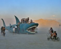 The Land Shark - these guys camped across the street from me - drove that thing from Wisconsin!