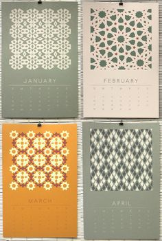 2013 Wall Calendar - 12 Original Designs Screen Printed By Hand - Limited Edition of 100. $72.00, via Etsy.