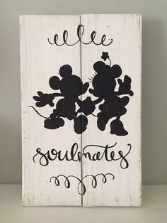 Hey, I found this really awesome Etsy listing at https://www.etsy.com/listing/276557806/rustic-home-decor-mickey-minnie-sign