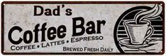 CPCH-0258 MYRTLE/'S COFFEE HOUSE Chic Tin Sign Decor Gift Ideas