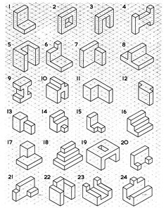 6 Drawing Shapes On isometric Paper Worksheet 59 Best رسم هندسي images √ Drawing Shapes On isometric Paper Worksheet . 6 Drawing Shapes On isometric Paper Worksheet . 59 Best رسم هندسي Images in Isometric Drawing Examples, Isometric Sketch, Isometric Shapes, Isometric Drawing Exercises, Isometric Grid, Isometric Design, Orthographic Drawing, Orthographic Projection, Drawing Skills