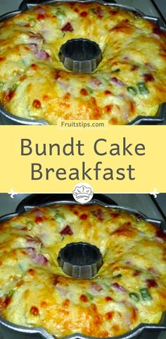 This Bundt Cake Breakfast recipe is perfect for brunch. Ham, tater tots and cheese are baked into a scrumptious slices of deliciousness. This BUNDT CAKE BREAKFAST from my grandmother recipes book seemed like it would Breakfast Bundt Cake, Breakfast Desayunos, Breakfast Items, Breakfast Dishes, Breakfast Recipes With Eggs, Yummy Breakfast Ideas, Breakfast Healthy, Frozen Breakfast, Breakfast Sandwiches