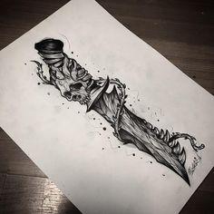 by @flesher_tattooer #sketchtattoo #tattoo #tattooart #tattoodesign