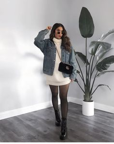 Mode Outfits, Girly Outfits, Simple Outfits, Stylish Outfits, Pretty Outfits, Tumblr Outfits, Stylish Girl, Casual Winter Outfits, Winter Fashion Outfits
