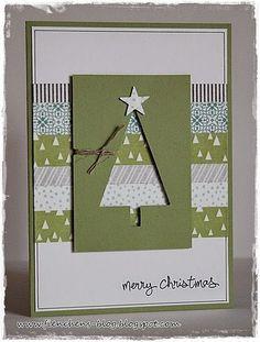 60 Ideas Diy Christmas Cards Ideas Link - Stampin Up Simple Christmas Cards, Christmas Card Crafts, Homemade Christmas Cards, Christmas Cards To Make, Xmas Cards, Homemade Cards, Holiday Cards, Christmas Ideas, Christmas Christmas