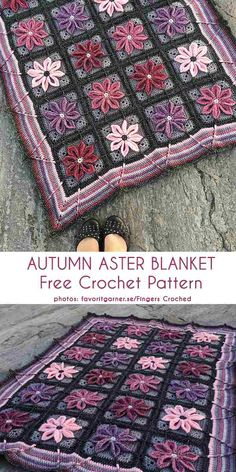 Autumn Aster Blanket Free Crochet Pattern Beautiful blanket with a flower motif, winter blanket Crochet afghan Crochet Afgans, Knit Or Crochet, Crochet Motif, Crochet Crafts, Crochet Projects, Blanket Crochet, Autumn Crochet, Crochet Bags, Crochet Animals