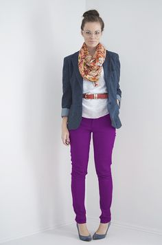 I Still Love You by Melissa Esplin: Travel Handmade: Essentials Over 50 Womens Fashion, Diy Fashion, Fashion Looks, Fashion Ideas, Purple Pants, Red Pants, Funky Outfits, Cool Outfits, Diy Clothes