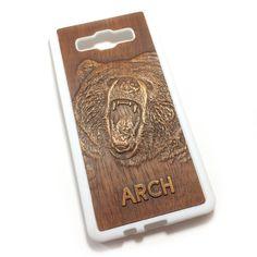 Чехол для Galaxy A5 из дерева кусия, ручная работа, ARCH