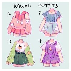 aesthetic drawing clothes