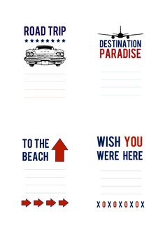 Exclusive Travel Tags | Scrapbook Printables - cute for travel mini and project life