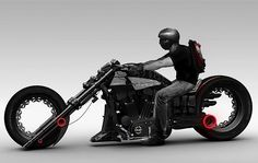 Futuristic Motorcycle, Lochness Chopper concept by Mohammad Reza Shojaile