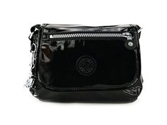 Kipling Sabian AC7526 Crossbody Mini Shoulder Bag for Women and Girls in Black Patent Kipling #Kipling #OrlandoTrend