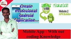 How To create Android app Without coding Knowledge
