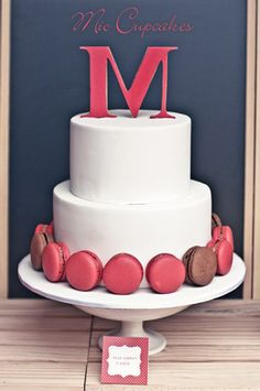 macarons + simple cake.