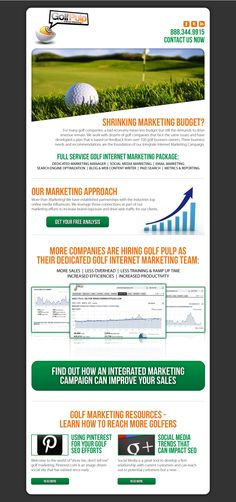 Increase your exposure to the golf market.