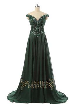 2017 Dark Green Off-the-shoulder Prom Dress /Formal Dresses AM574