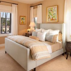 Bedroom Light Orange Design, Pictures, Remodel, Decor and Ideas