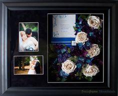 A preserved #Wedding Flower collage shadowbox... How cool!  www.freezeframeit.com