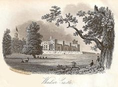1840. Windsor Castle - visitors souvenir card.