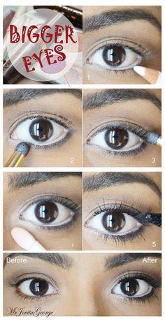 Big beautiful doll eyes - use white eyeliner the right way