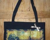 """sac cabas """" une virée dans Paname """" Kali-créatrice-original : Sacs bandoulière par kali-creatrice-original"""