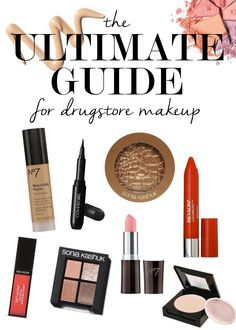 Our ULTIMATE Guide to Drugstore Makeup will help you look your absolute best without spending a fortune! | ShopperonaBudget.com