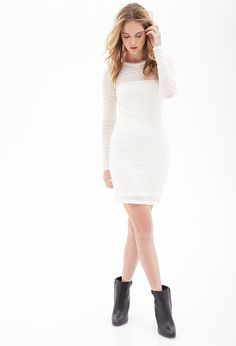 Textured Knit Dress - Forever 21