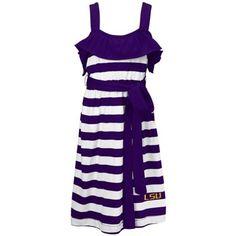 LSU Tigers Youth Girls Ashley Dress - Purple/White large