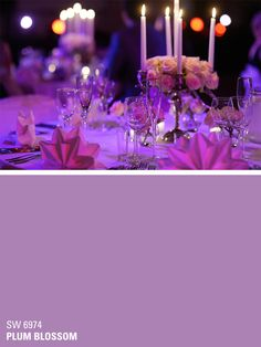Sherwin-Williams purple paint color - Plum Blossom (SW 6974)