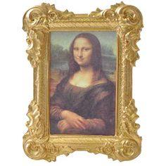 Large Framed Mona Lisa Print