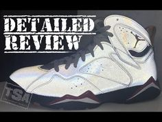 b43625b27b Air Jordan 7 Reflection of a Champion Cardinal 3M Retro Sneaker Detailed  Look With Reflective Test