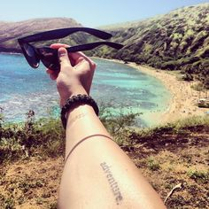 I love this picture because my tattoo is still peeling. I was 1 month removed from quitting my $80000 a year job to travel the U.S. In a RV while trying to start my own business.  Crazy to think how far we have come. Now I need a little more adventure in my life again!!!! Thanks for sticking with us. #hawaii #travel #adventure #adventuretattoo #traveltattoo #wanderlust #explore #gopro #goprooftheday #roadtrip #entrepreneur #grandrapids #michigan #vooray by adventurevinyl