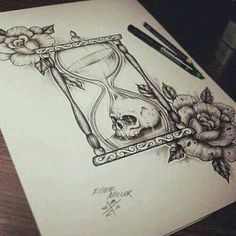 Drawing :: Hour of Death :: Hourglass