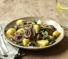 MyPanera Recipe: A Buckwheat Noodles with Potatoes, Chard, and Fontina--maybe switch Chard with spinach or kale