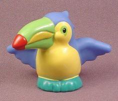 Fisher Price Little People 2002 Male Toucan Animal Figure With Blue Wings, Noah's Ark, Zoo Blue Wings, Baby Carriage, Latin America, Fisher Price, Little People, Ark, Geography, Toys, Animals