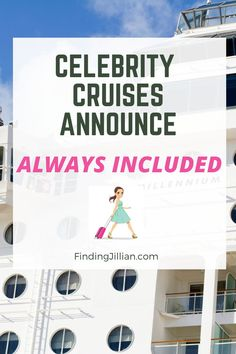 Are you ready for an all-inclusive cruise experience? Celebrity Cruises just announced their new initiative - Always Included. This new program includes drink package, WiFi and onboard gratuities. This new program launches #CelebrityCruise #allinclusivecruise #cruisevacation #cruisewifi #cruisetips #cruisegratuities #drinkpackages #alcoholoncruise