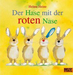 Der Hase mit der roten Nase: Vierfarbiges Papp-Bilderbuch von Helme Heine http://www.amazon.de/dp/3407770065/ref=cm_sw_r_pi_dp_AWNevb1SC0MNA