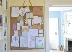for Molly's artwork (wall between the dining room & kitchen)