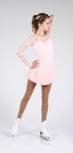 Elite Expression 1615 Classic Light Pink Skating Dress