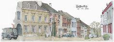 Limbourg by gerard michel, via Flickr Moleskine, Sketchers, Architecture, Illustration Art, Street View, World, Travel, Journal, Book