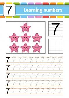 Trace And Write. Learning Numbers For Kids. Numbers For Kids, Numbers Preschool, Preschool Letters, Learning Numbers, Writing Numbers, Preschool Learning Activities, Preschool Lessons, Preschool Activities, Teaching Resources