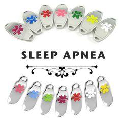 SLEEP APNEA Alert ID plate PreEngraved for by MyIdentityDoctor, $14.99