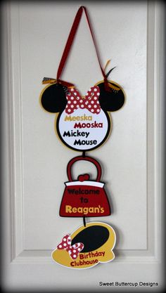 Mickey Mouse Club House Party Door Sign