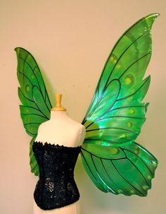 Giant Butterfly Painted Fairy Wings in your by TheFancyFairy, $419.00