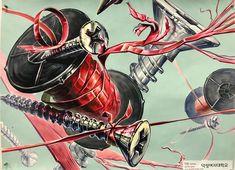 목우미술학원 탑클래스 예고 특별반 Colorful Drawings, Cool Drawings, Illusions, Design Art, Spiderman, Fine Art, Superhero, Anime, Painting