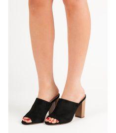 Šľapky na podpätku Heeled Mules, Sandals, Heels, Fashion, Shoes Sandals, Moda, La Mode, Shoes High Heels, Fasion