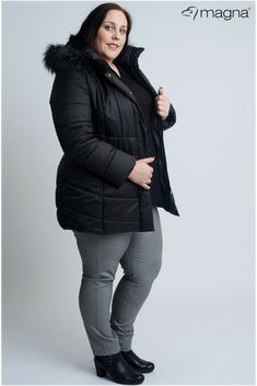 3256570fbf03 Winter jacket for plus size women!  winter  magnafashion  cold   loveyourcurves