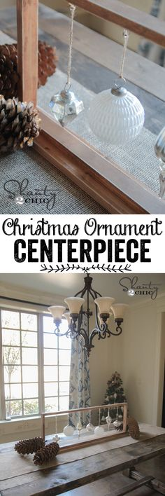 LOVE this DIY Table Centerpiece... Perfect for Christmas! Easy tutorial at www.shanty-2-chic.com