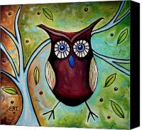 The Whimsical Owl Painting by Elizabeth Robinette Tyndall - The Whimsical Owl Fine Art Prints and Posters for Sale